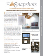 Glazing with Integral Honeycomb Baffles