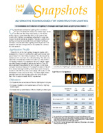 Alternative Technologies for Construction Lighting