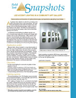 LED Accent Lighting in a Community Art Gallery