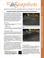 Benefits of Improved Uniformity with Parking Lot Lighting