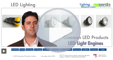 "Click to see short, interactive video, ""LED Lighting"""