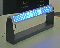 Blue light treatment fixture
