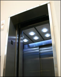 Elevator lighting field installation