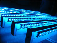 Photo: Blue LED fixtures used in study.