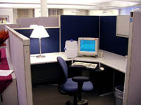 Photograph of simulated office space