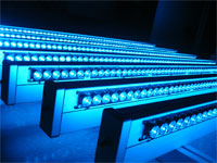 Photo: LED fixtures used in the retail study.