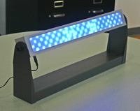 Photo: LED luminaire used for blue-light treatment in the study