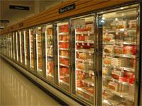 Photo: Supermarket freezer aisle