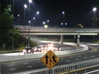 Roadway lighting at night