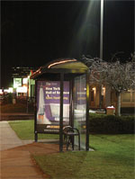 PV-powered bus shelter