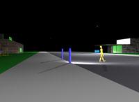 Bollard-based crosswalk lighting