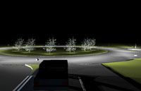 Ecoluminance aids visibility in roundabouts