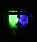 Subjects wore special LED glasses developed for the study