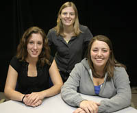 Interns (l-r) Tiffanie Benway, Karen Kubarek, and Brittany Wood