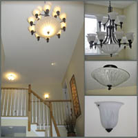 Decorative residential LED lighting fixtures