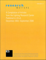 "Cover of ""Research Matters—A Compilation of Articles"" published in LD+A magazine"