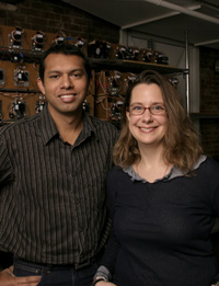 Indika Perera (left) and Ute Besenecker (right), recipients of the 2012-2013 Robert J. Besal Fund scholarships