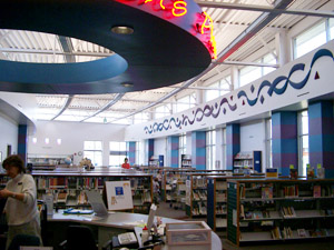 Harmony Library in Fort Collins, CO optimizes architectural elements and electric lighting, resulting in good daylighting design.