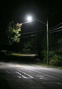 Streetlight on a local road (click for larger image)